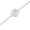Billede af By Pind armbånd sølv rhodineret med blomst motiv og zirkoniasten (16+3cm)