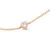Billede af By Pind armbånd sølv rosaforgyldt med hjerte med zirkoniasten (16+5cm)