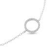 Billede af By Pind armbånd sølv rhodineret med cirkel med zirkoniasten (16+3cm)