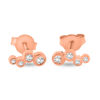 Billede af By Pind ørestikker sølv rosaforgyldt med 4 zirkonia sten