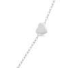Billede af By Pind armbånd sølv rhodineret armbånd med hjerte (15+3cm)