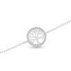 Billede af By Pind armbånd sølv rhodineret med livets træ med zirkonia sten (15-18cm)