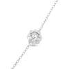 Billede af By Pind armbånd sølv rhodineret med blomst med zirkoniasten (15+3cm)