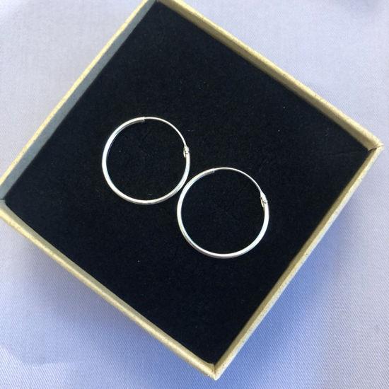 Billede af By Pind creol sølv med vippelås 20x1,2mm (2cm i diameter)