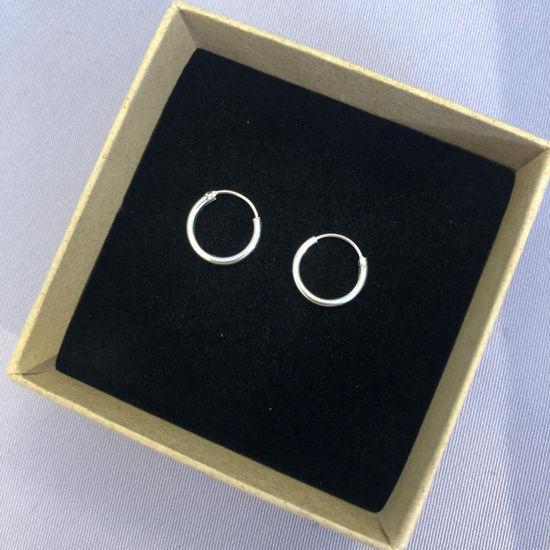 Billede af By Pind creol sølv med vippelås 12x1,5mm (1,2cm i diameter)