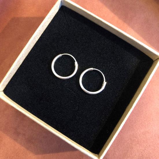 Billede af By Pind creol sølv med vippelås 14x1,5mm (1,4cm i diameter)