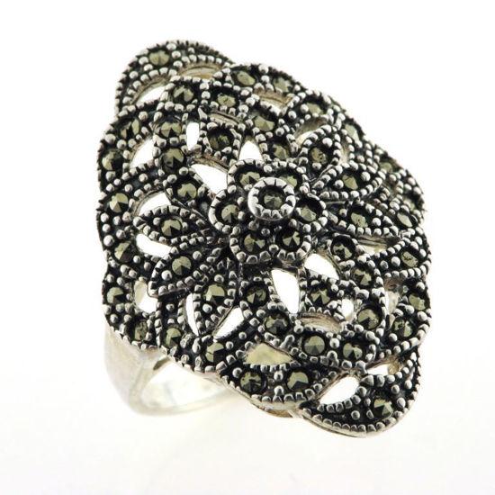 Billede af *By Pind ring sølv med markasit