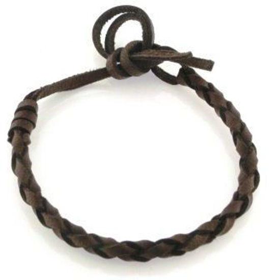 Billede af *Men By Pind armbånd flettet læder i mahogni